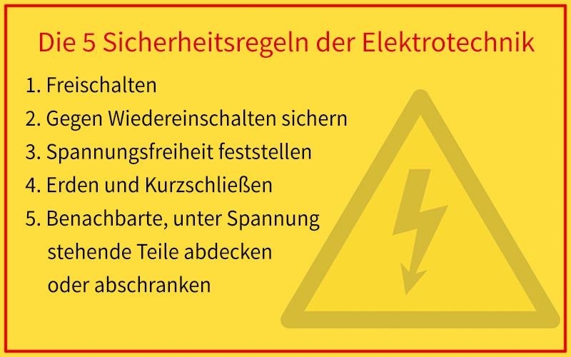Sicherheitsregeln der Elektrotechnik